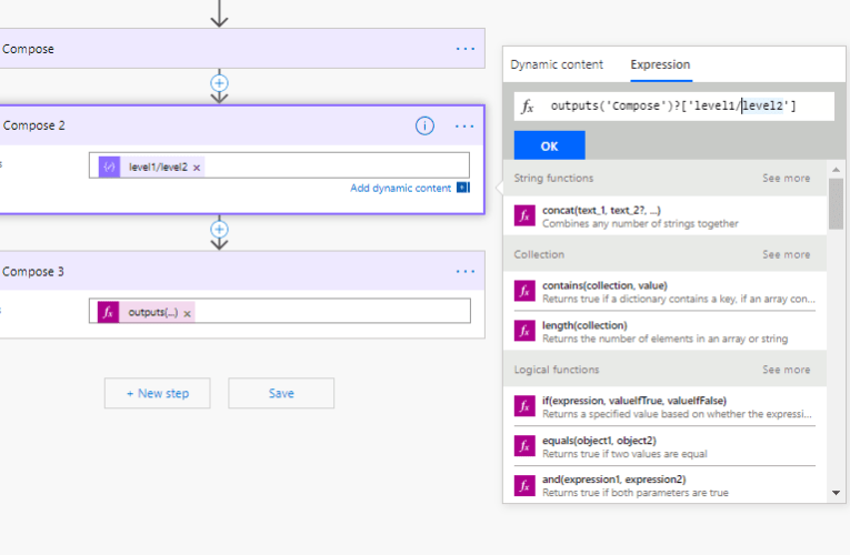 Query json in Microsoft Flow