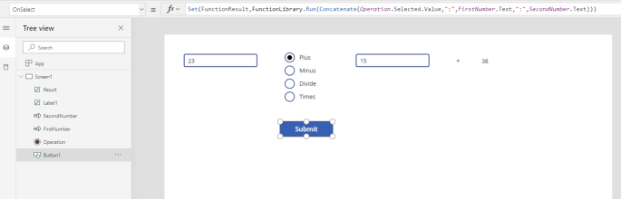 Run a flow form PowerApps