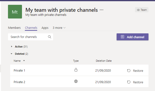 Be careful with your 30 private channels in Microsoft Teams 3