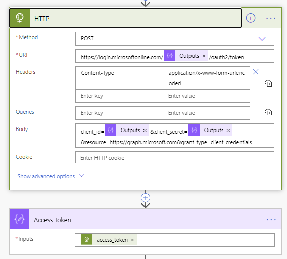 Create new group alert using Power Automate Microsoft Power Automate Get Access Token out of HTTP request