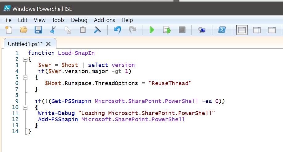 Add-PSSnapin Microsoft.SharePoint.PowerShell