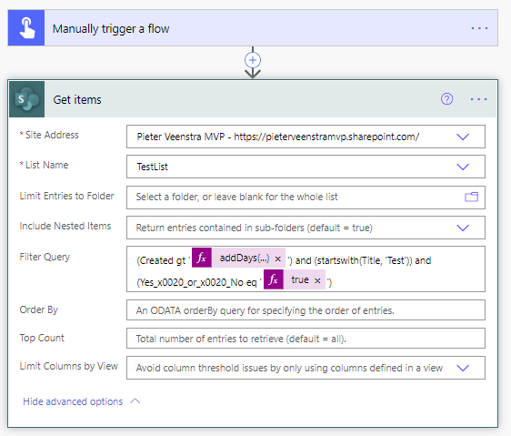 Filter Query in SharePoint Get Items in Power Automate 5