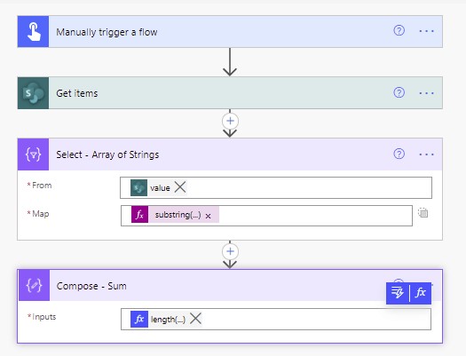 Calculate the Sum for a SharePoint column in Power Automate