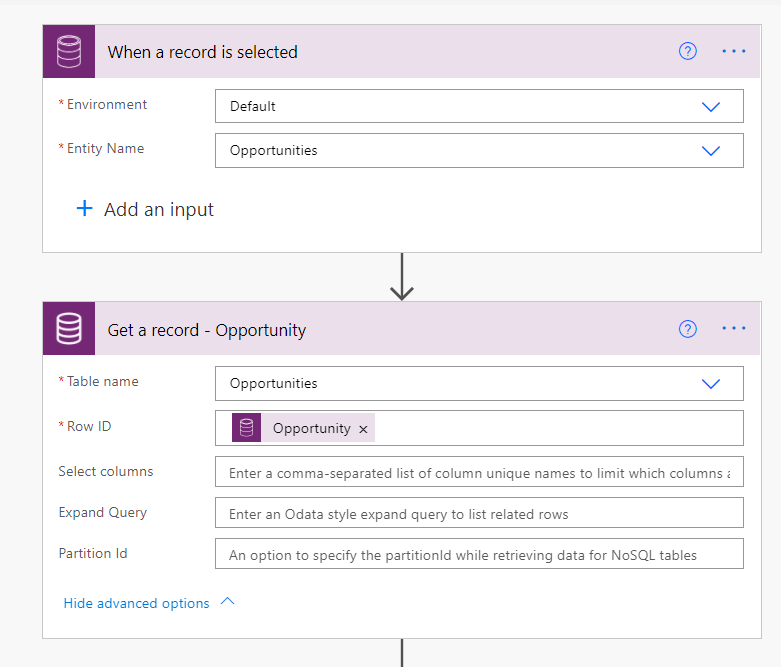 Expected String but got Null, when calling a flow from a Model Driven app Microsoft Office 365