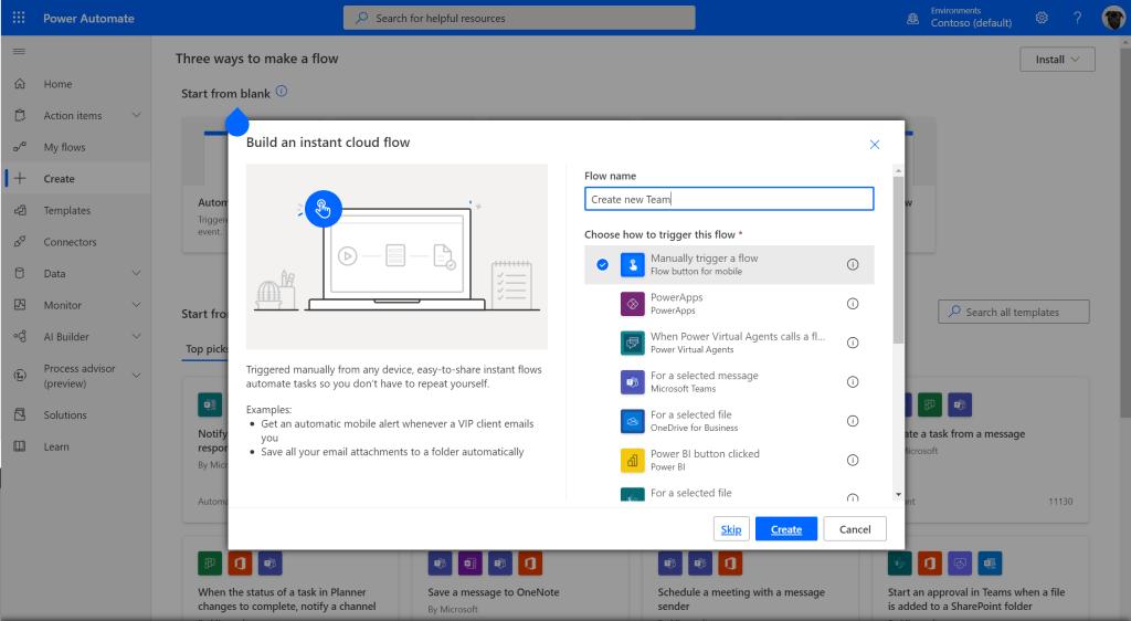 Create a Microsoft Teams team template Microsoft Office 365, Microsoft Power Automate, Microsoft Teams image 7