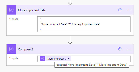 compose actions self documenting in Power Automate