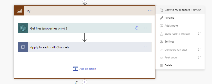 Request to XRM API failed with error, the flow is missing a connection for api '< null >' Microsoft Office 365 image 5