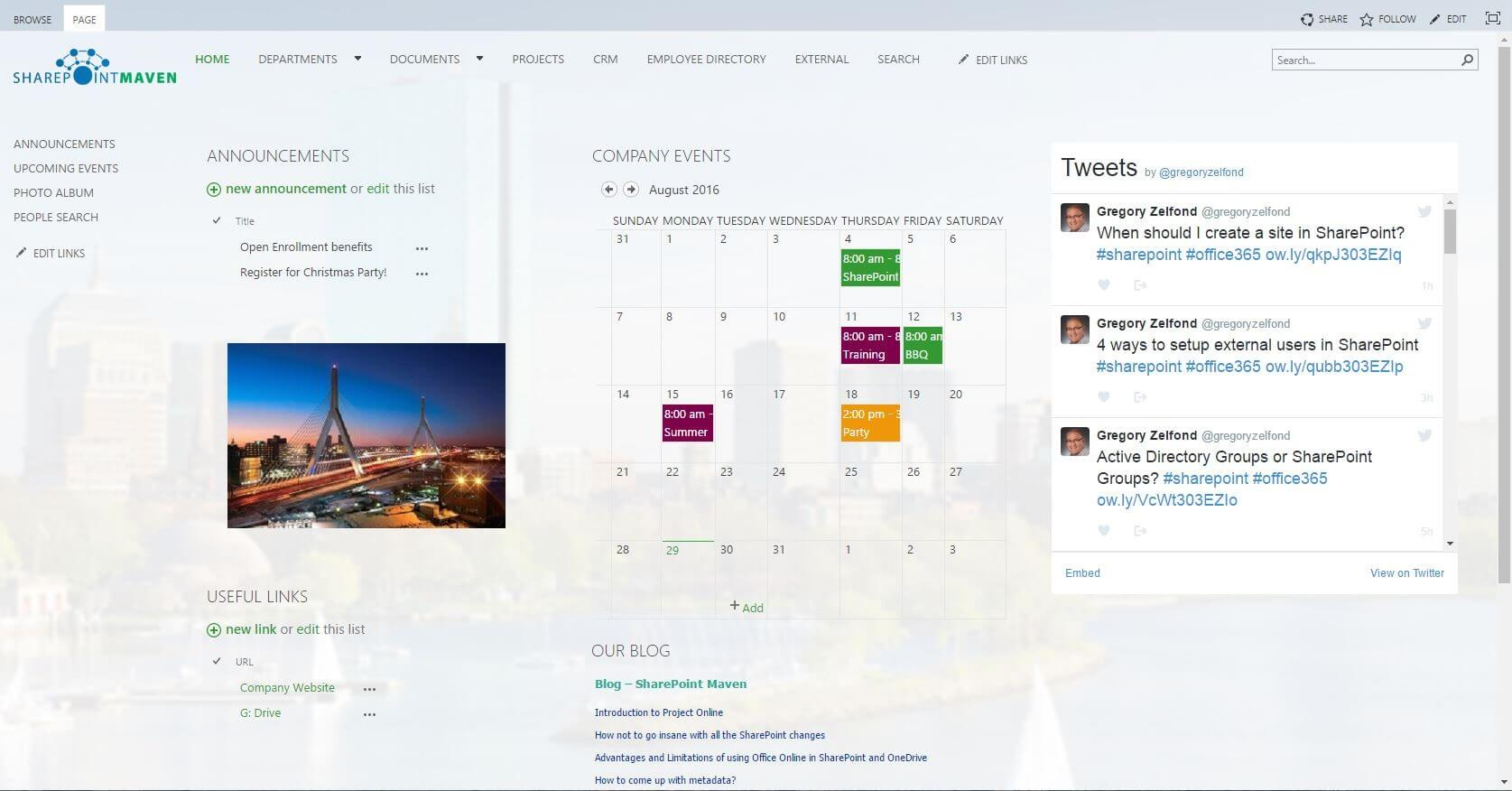 SharePoint Intranet Home Page: 8 Best Practices
