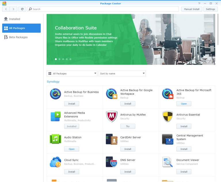 Synology Package Center