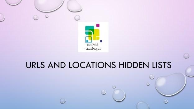 URLs and Locations Hidden lists SharePoint 1920x1080