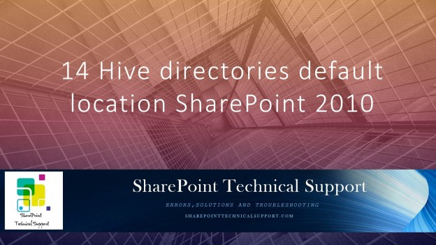 14 Hive directories default location SharePoint 2010