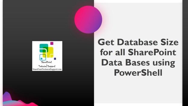 Get Database Size 1920x1080