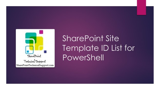 SharePoint 2013 Site Template ID 1920x1080