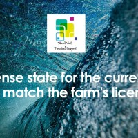The license state for the current server doesn't match the farm's license state