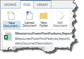 powerpivot add new document