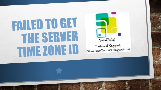 Failed to get the server time zone id