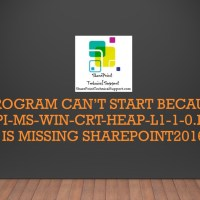 Program can't start because api-ms-win-crt-heap-l1-1-0.dll is missing SharePoint2016