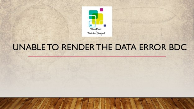 Unable to render the data