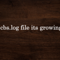 Delete cbs.log file its growing large