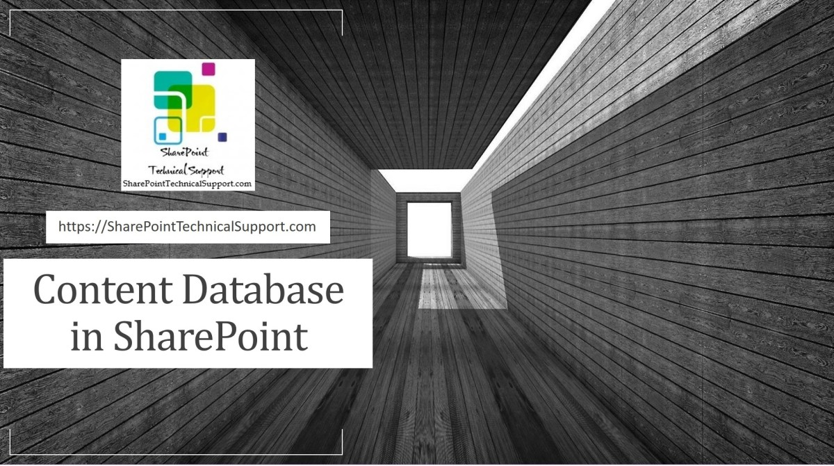 content database in sharepoint
