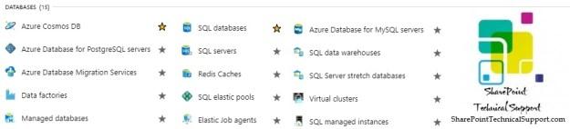 Azure Services Database
