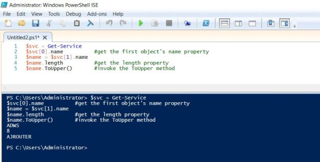 PowerShell object members and variables 3