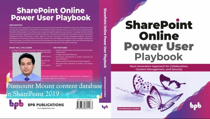 Dismount Mount content database in sharepoint 2019 using powershell