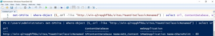 content database in which site collection is stored