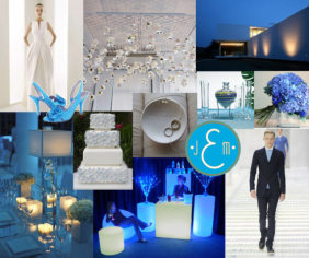 """Cool blue, silver and white evoke an """"ice palace"""" vibe"""