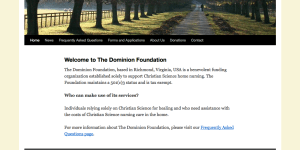 The Dominion Foundation | Financial Assistance in Support of Christian Science Nursing
