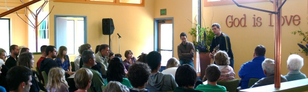Tom and Alex presenting at First Church of Christ, Scientist, Orinda CA