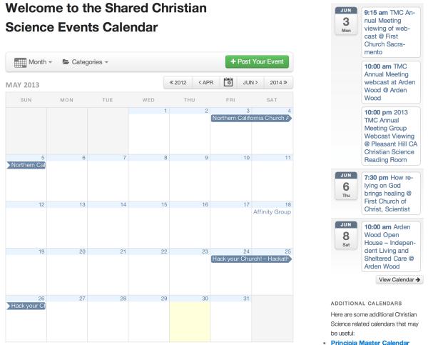 Christian Science Calendar