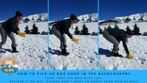 How to pick up poop in the backcountry