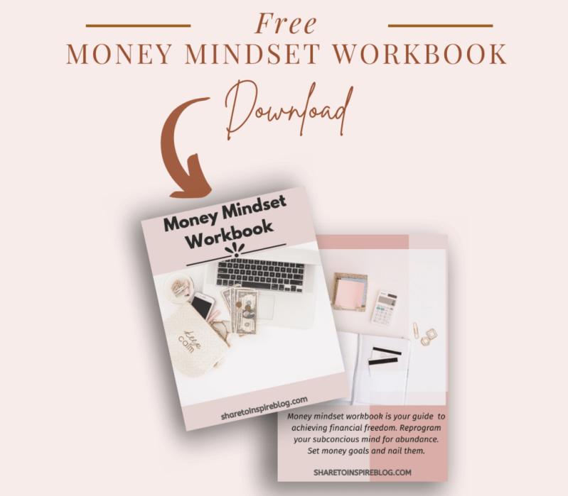 Free money mindset workbook