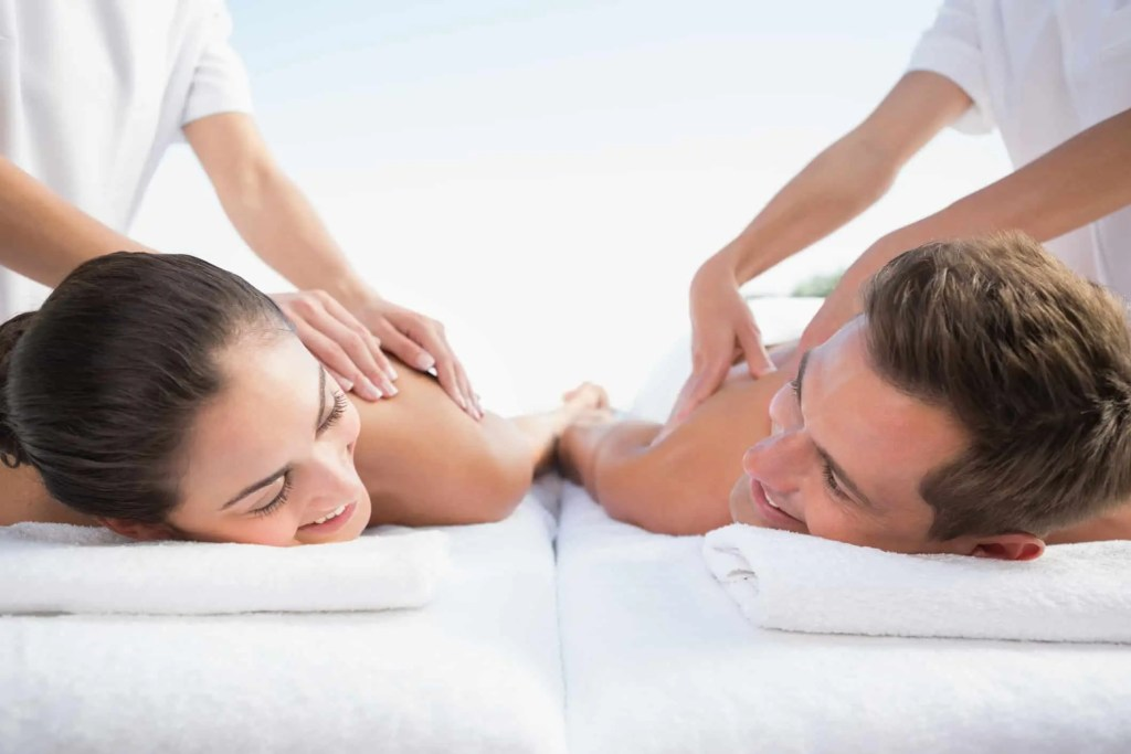 couples getting a massage together