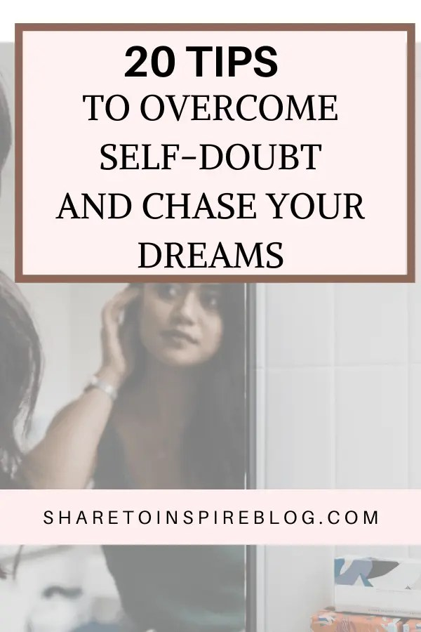20 tips to overcome self doubts Pinterest pin