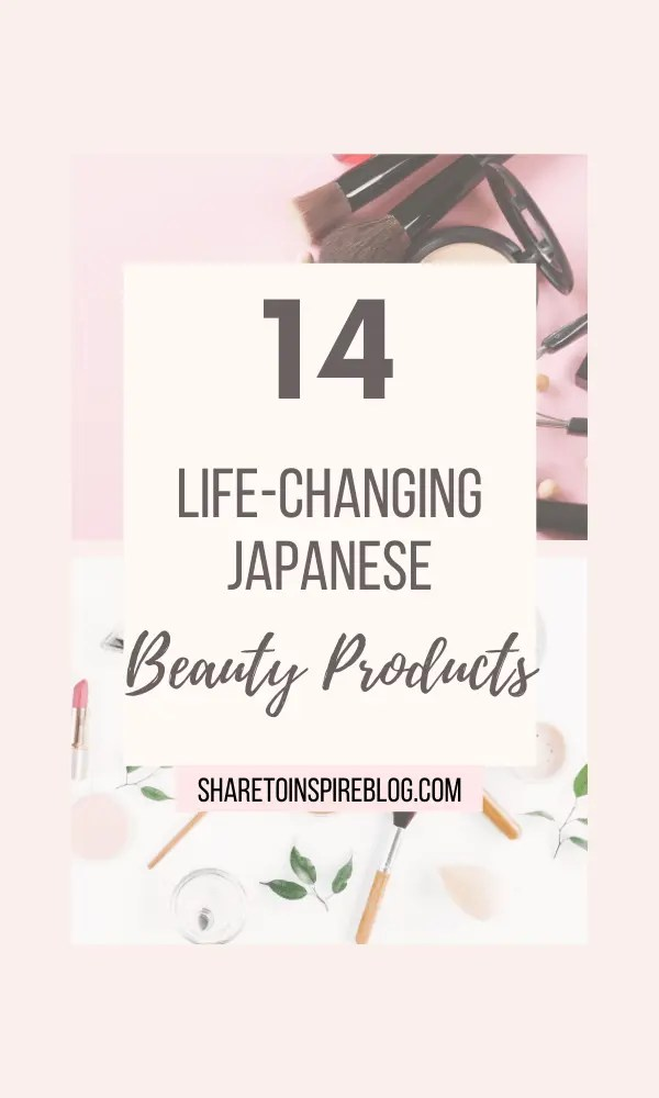 japanese skincare and beauty products you must try pin