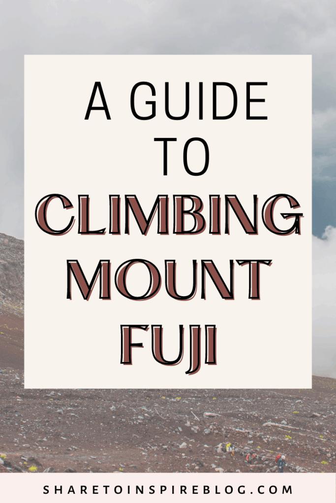 a guide to climbing mount fuji pin