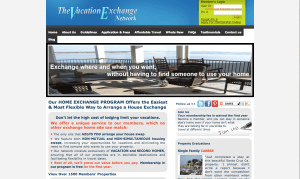 Vacation Exchange Network homepage