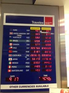 Very bad exchange rates at Travelex