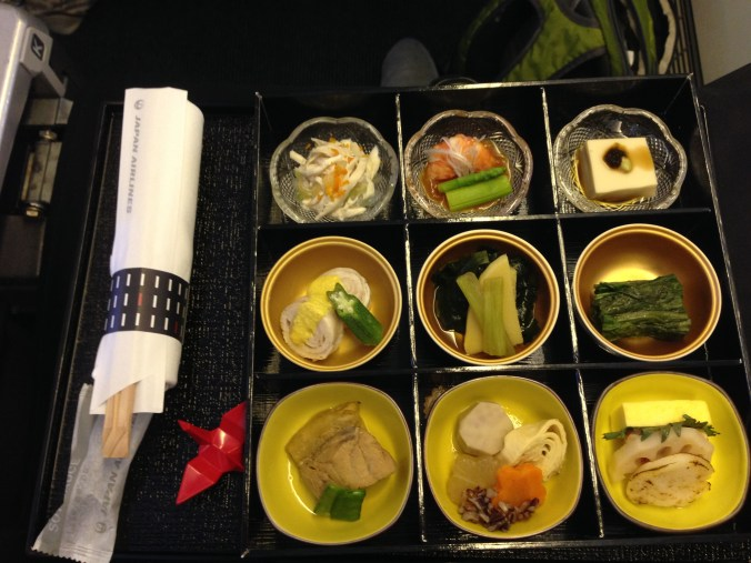 JAL business class meal: first course