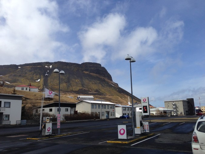 Big towns in Iceland have a gas station and a church and more than 10 houses