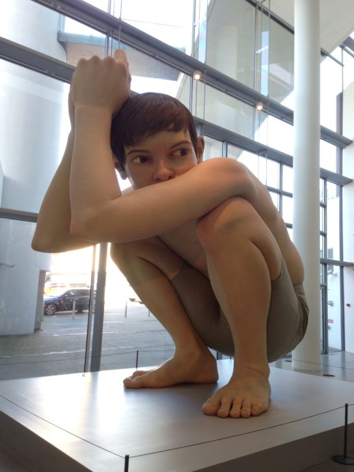 Ron Mueck's famous Boy sculpture in Aarhus art museum