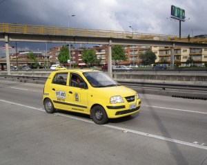 Taxis in Bogotá are all well marked