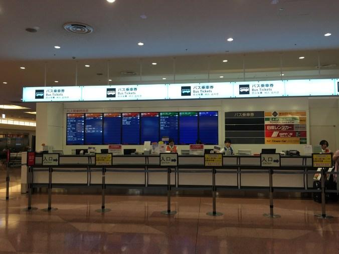 Haneda bus counter
