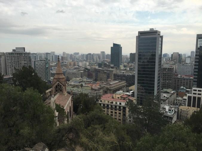 Downtown Santiago from Cerro Santa Lucia