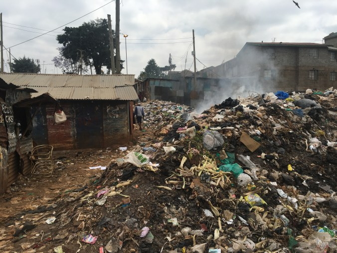 The city doesn't collect trash in Kibera
