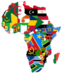 africa flags map