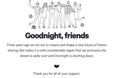 Overnight shuts down
