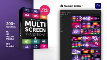 Multiscreen Transitions for Premiere Pro